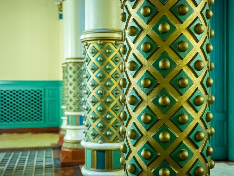 Detalhe ornamentado da coluna imagens de stock