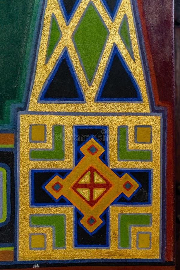 Detalhe ornamentado de um ornamento do estilo do art nouveau imagens de stock royalty free