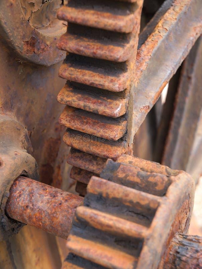 Detalhe oxidado da engrenagem foto de stock