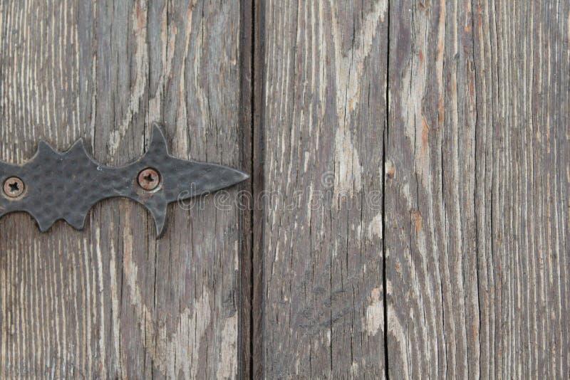 Detalhe pequeno de uma porta áspera foto de stock
