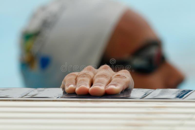 Detalhe regional da sessão de formação da equipe de natação imagens de stock