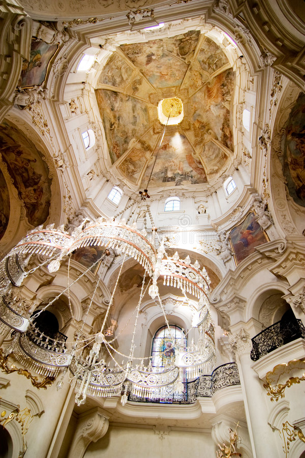 Detalhe Rococo da igreja imagem de stock royalty free