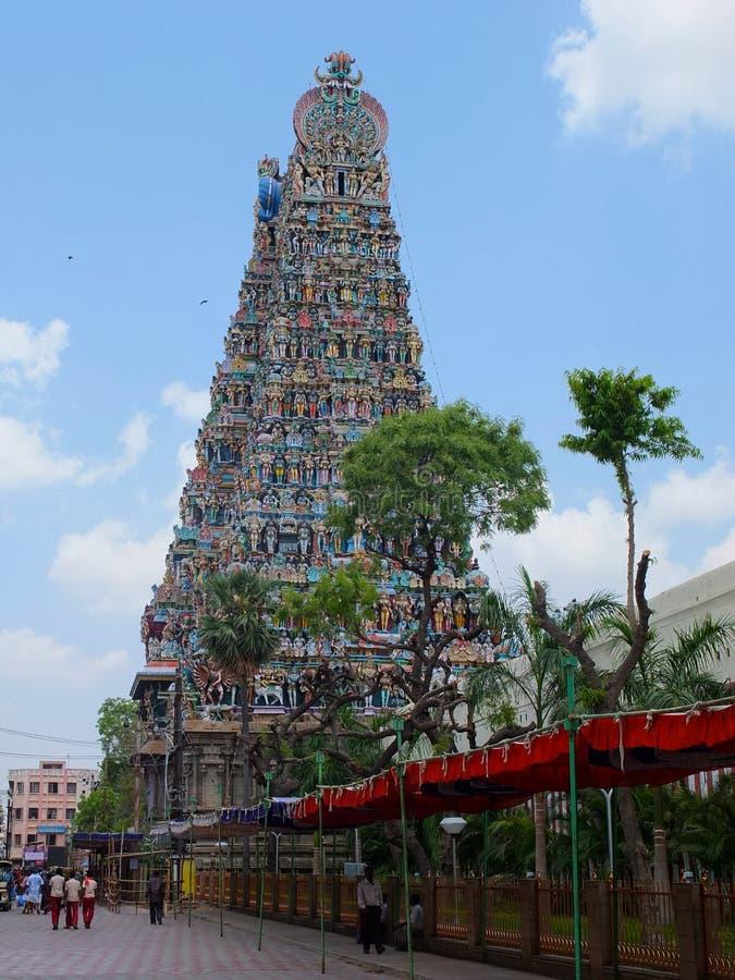 Detalhe, templo Madurai de Menakshi imagens de stock royalty free
