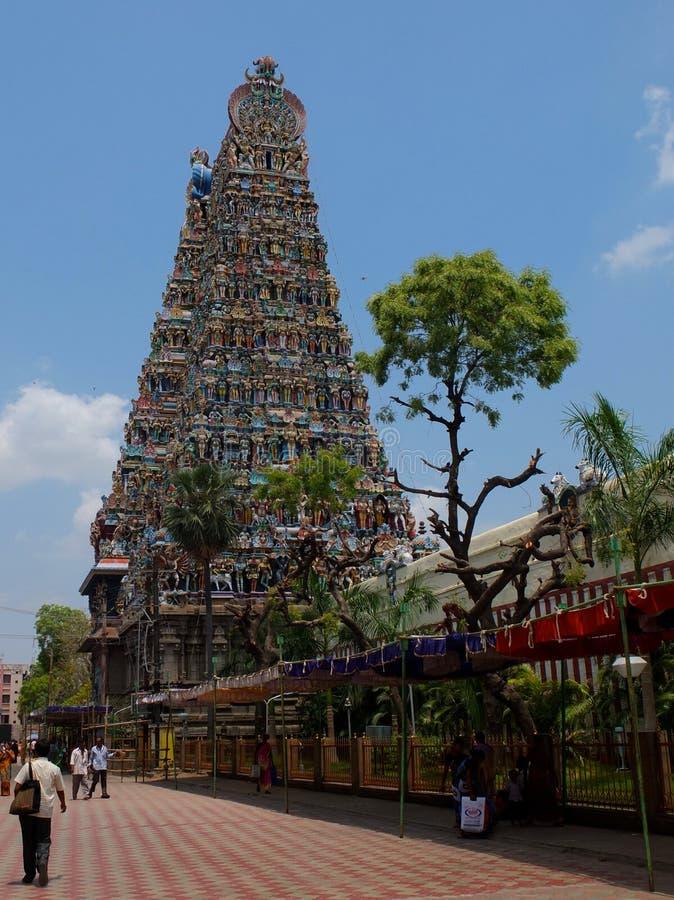 Detalhe, templo Madurai de Menakshi foto de stock royalty free