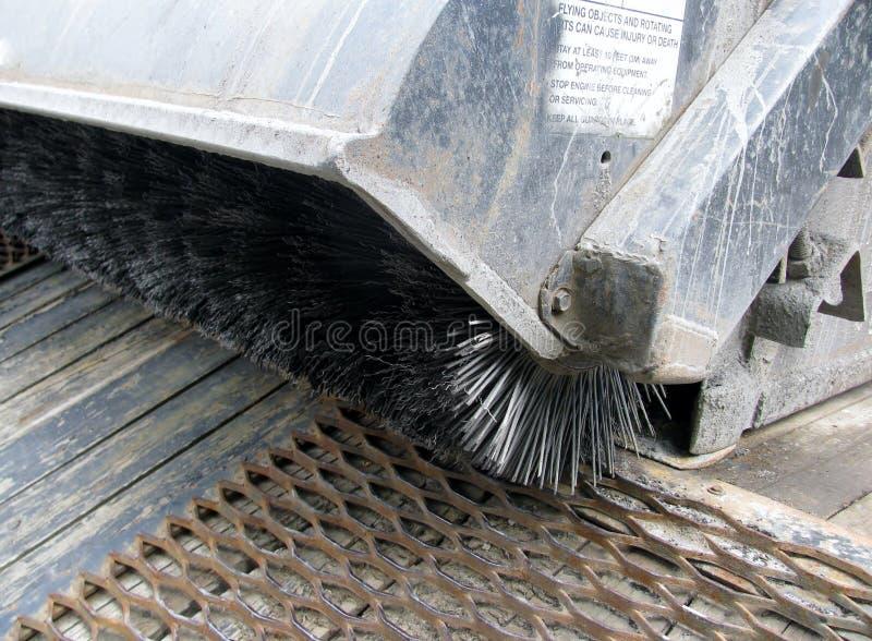 Detalhe uma máquina da limpeza de escova do fio imagem de stock royalty free