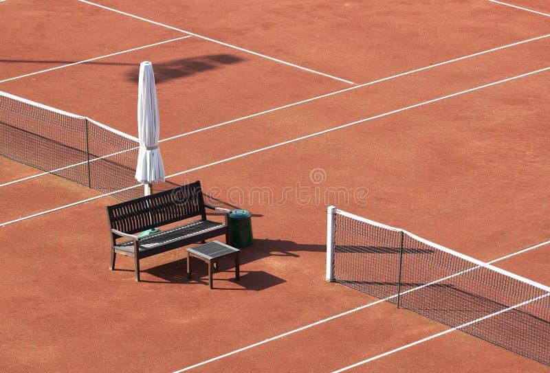 Detalhe vazio do campo de tênis imagem de stock royalty free