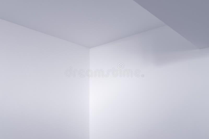 Detalhe vazio do interior da sala branca foto de stock royalty free