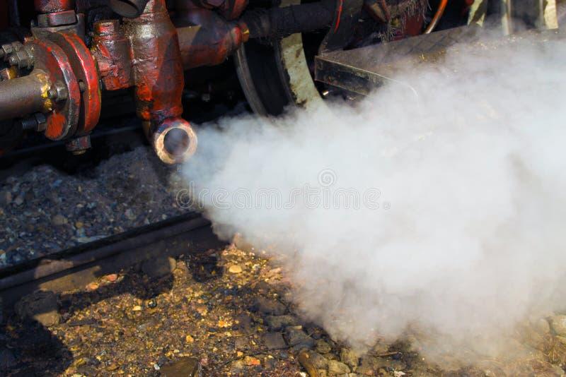 Detalhe velho da locomotiva de vapor fotografia de stock