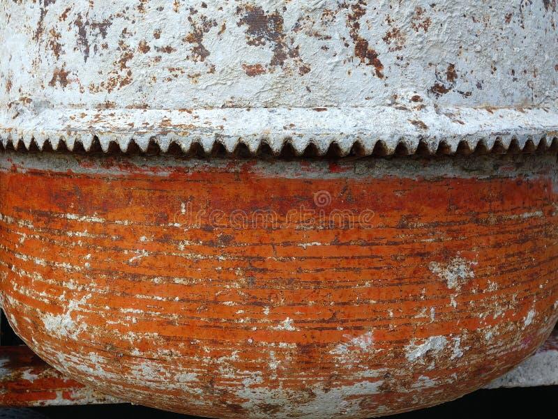 Detalhe velho do misturador de cimento imagem de stock