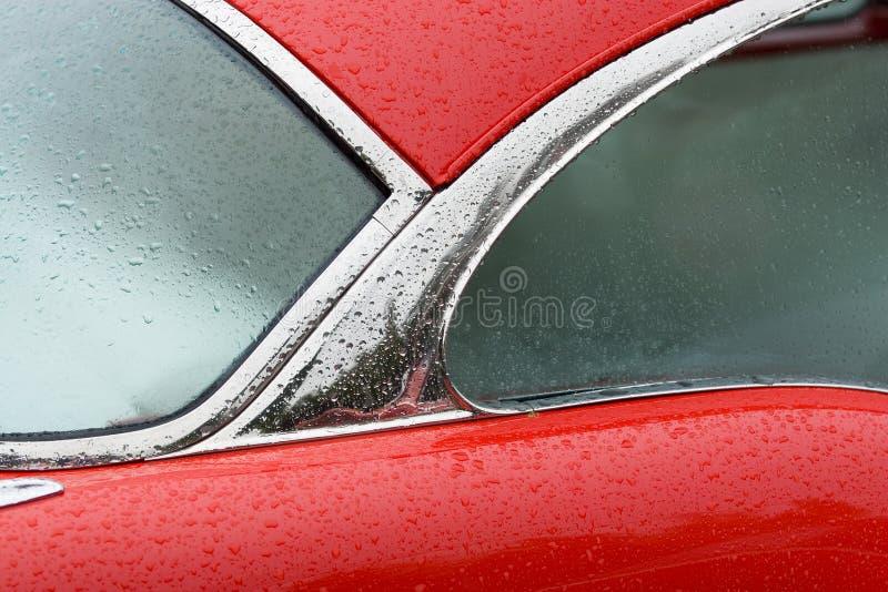 Detalhe vermelho do carro foto de stock