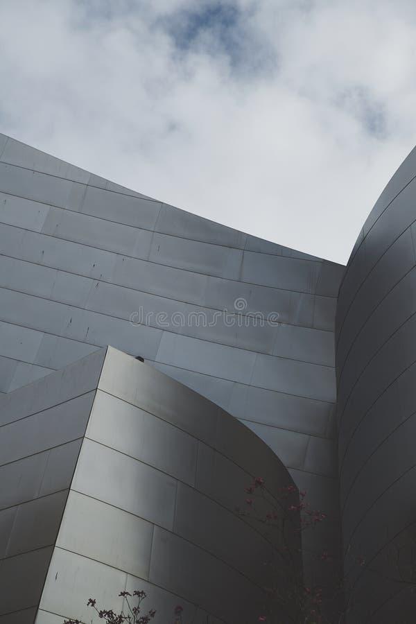 Detalhe vertical de Walt Disney Concert Hall Close fotografia de stock