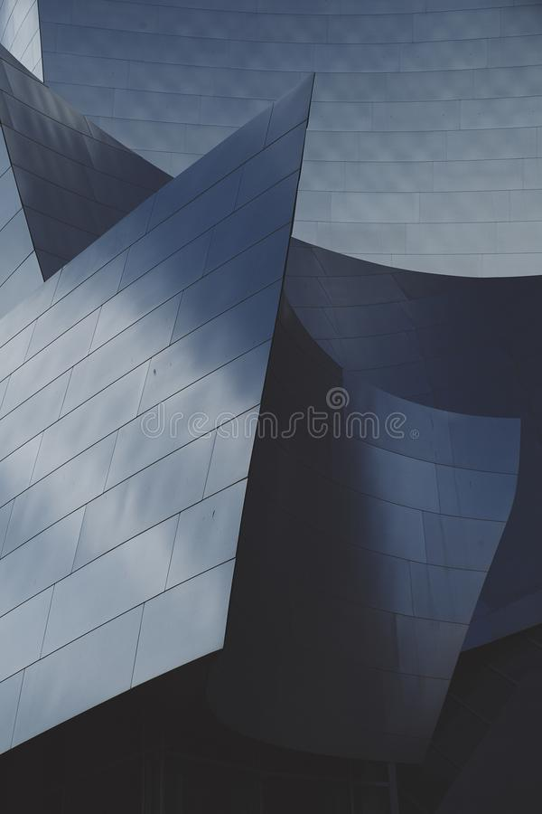 Detalhe vertical de Walt Disney Concert Hall Close foto de stock royalty free