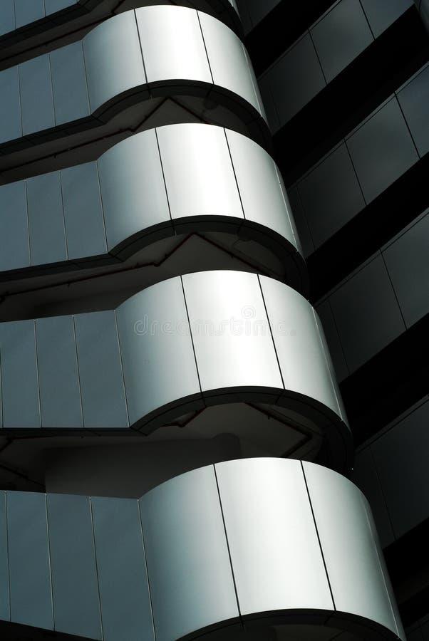 Detalhes altas tecnologia do edifício fotografia de stock