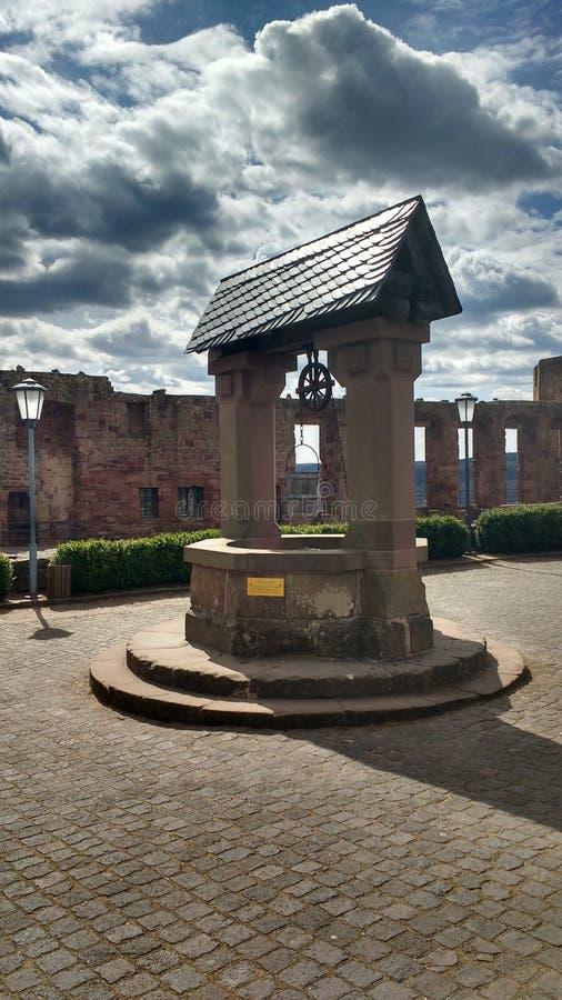 Detalhes arquitetónicos de castelo de Nideggen, Alemanha imagem de stock