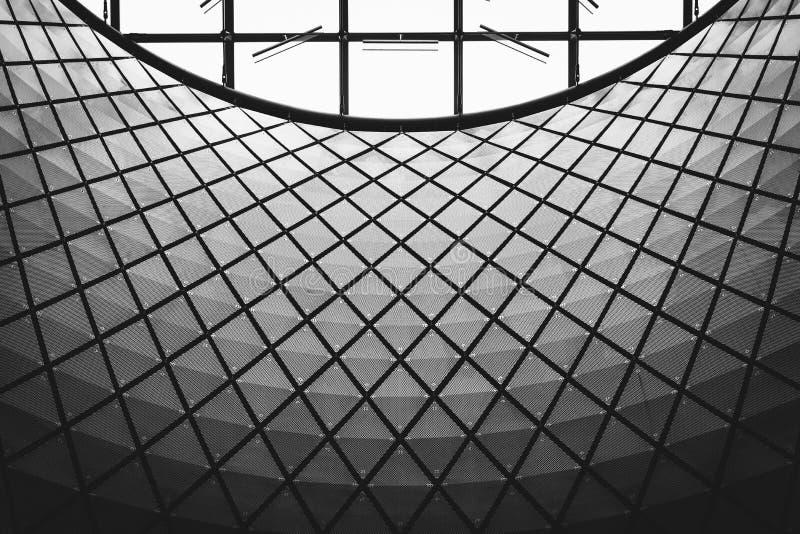 Detalhes arquitetónicos de Fulton Center, em Manhattan, New York City fotos de stock