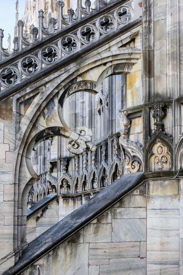 Detalhes arquitetónicos de Milan Cathedral imagem de stock royalty free