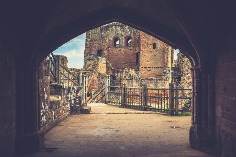 Detalhes arquitetónicos do castelo medieval do castelo Reino Unido de Kenilworth imagem de stock royalty free