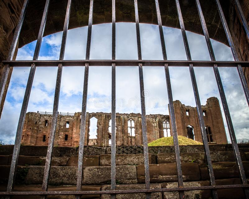 Detalhes arquitetónicos do castelo medieval do castelo Reino Unido de Kenilworth imagem de stock