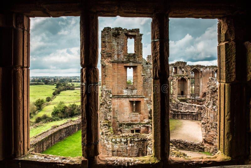 Detalhes arquitetónicos do castelo medieval do castelo Reino Unido de Kenilworth imagens de stock royalty free
