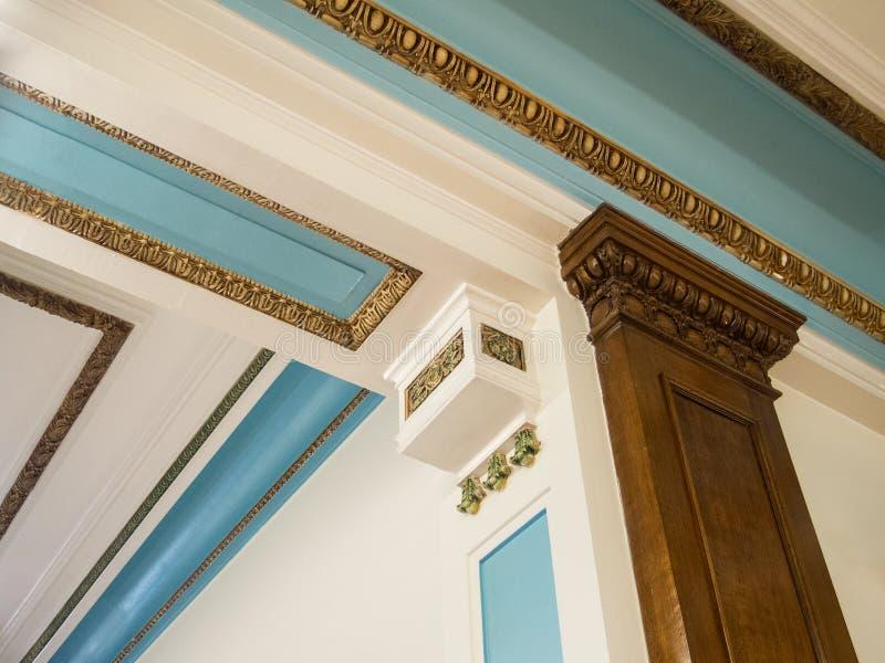 Detalhes arquitetónicos interiores imagem de stock royalty free