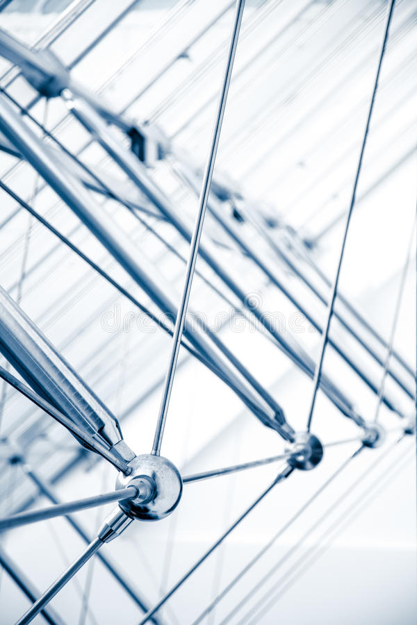 Detalhes arquitetónicos modernos da estrutura da claraboia imagem de stock royalty free