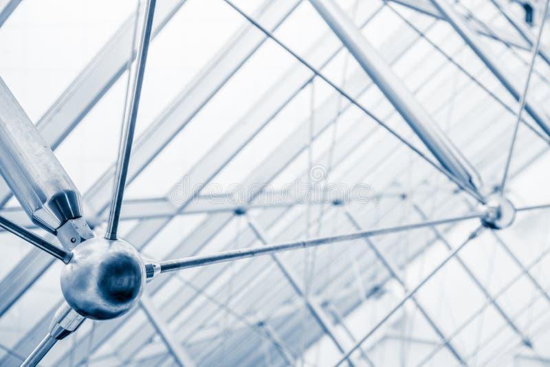 Detalhes arquitetónicos modernos da estrutura da claraboia fotografia de stock