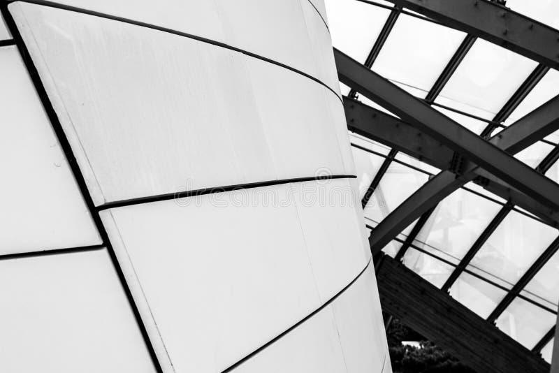 Detalhes arquitetónicos preto e branco imagem de stock