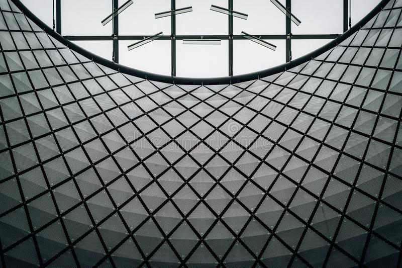 Detalhes arquitet?nicos de Fulton Center, em Manhattan, New York City fotografia de stock royalty free
