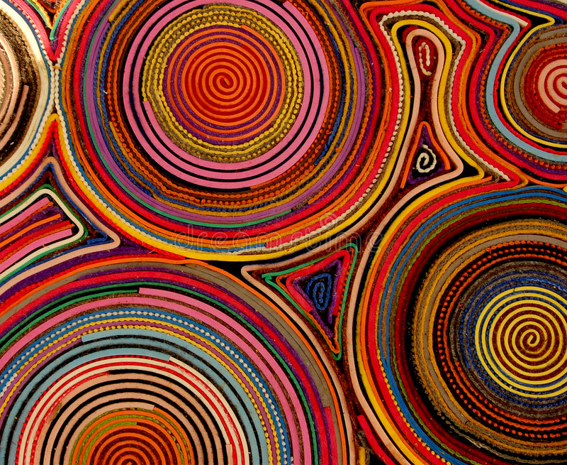 Detalhes coloridos de um tapete imagens de stock