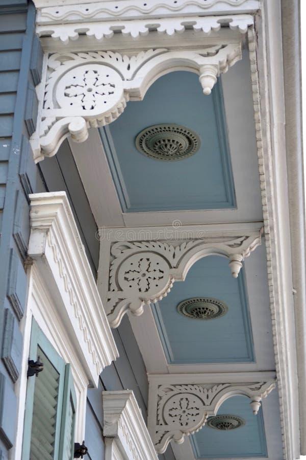 Detalhes da arquitetura, bairros franceses, Nova Orleães louisiana imagem de stock