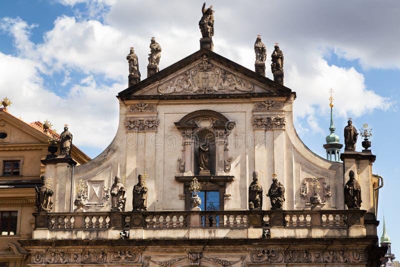 Detalhes da arquitetura Igreja do St Salvador, Praga imagem de stock royalty free