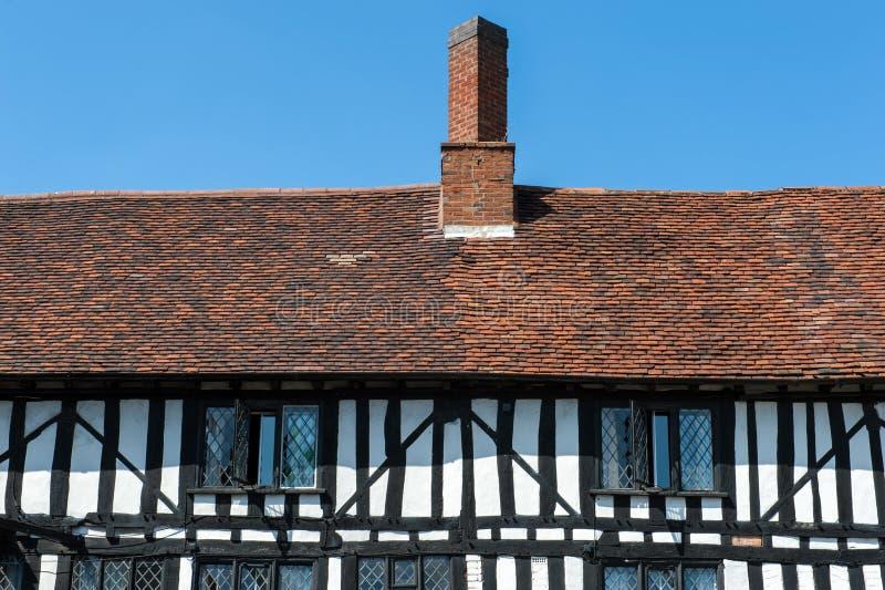 Detalhes da casa de Tudor fotos de stock