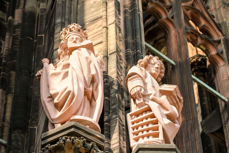 Detalhes da catedral de Strasbourg fotos de stock royalty free