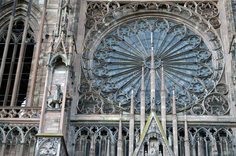 Detalhes da catedral de Strasbourg, Strasbourg França imagens de stock royalty free