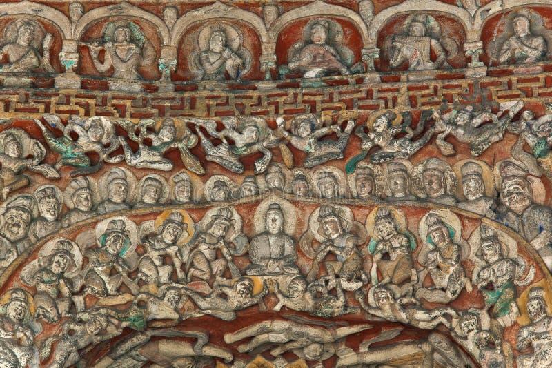 Detalhes da caverna do bodhisattva do bhumi de Vimala imagem de stock royalty free