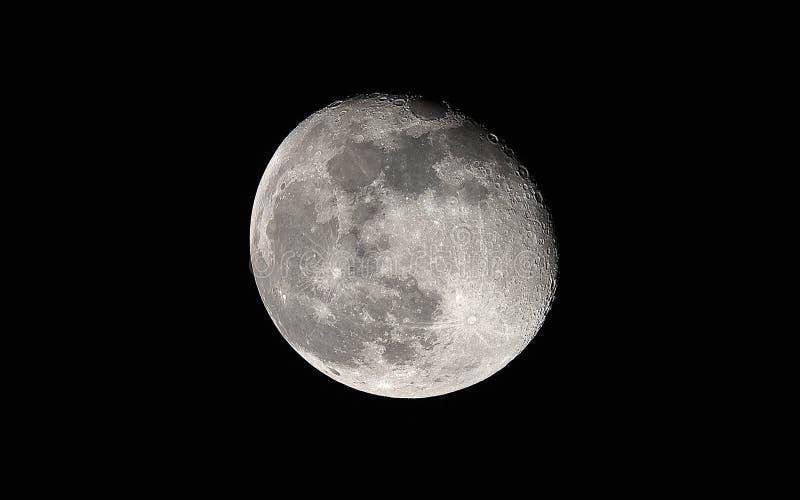 Detalhes da Lua cheia fotografia de stock