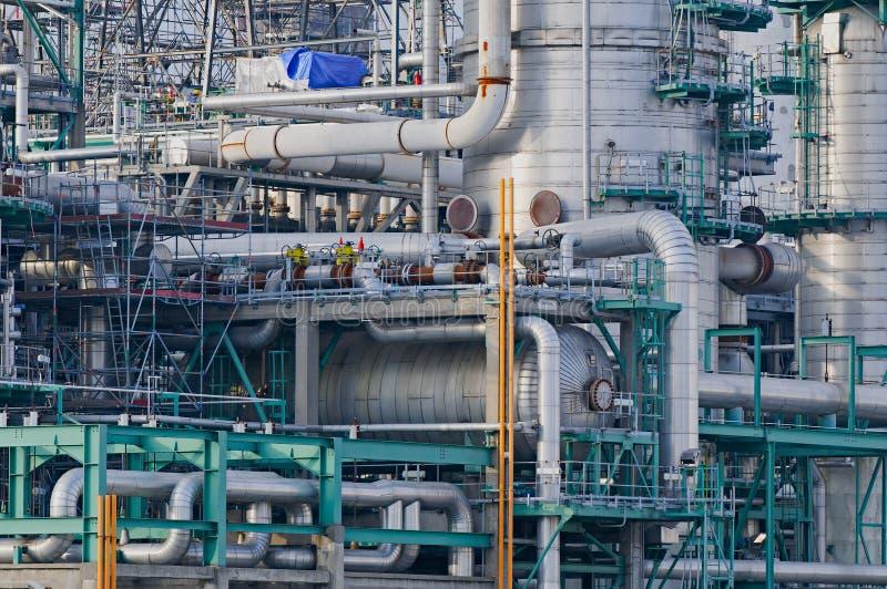 Detalhes da refinaria na porta de Rotterdam foto de stock royalty free
