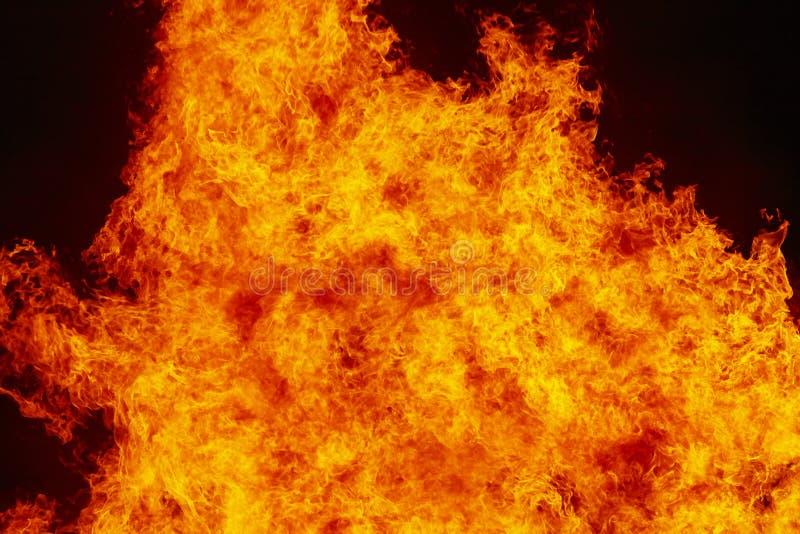 Detalhes das chamas de incêndio Emergência do Fireman Emissões de carbono imagens de stock