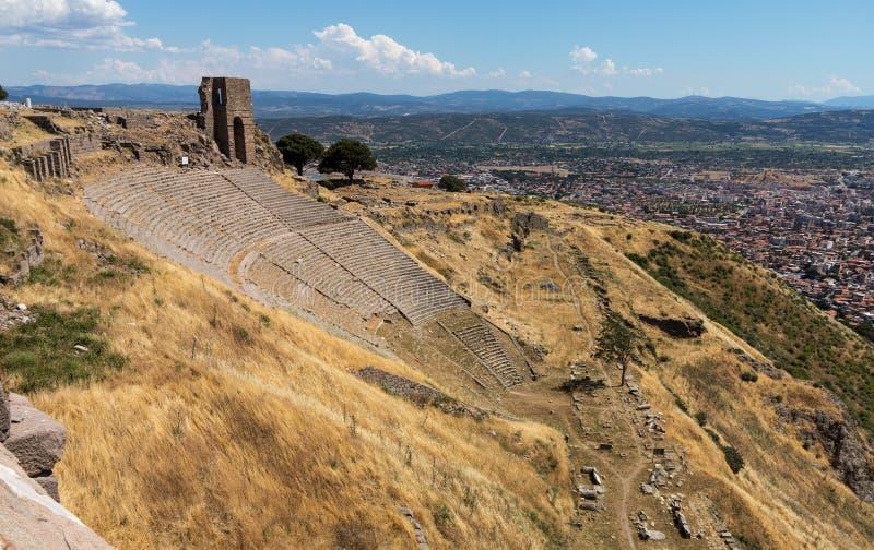 Detalhes das ruínas velhas em Pergamum imagens de stock royalty free