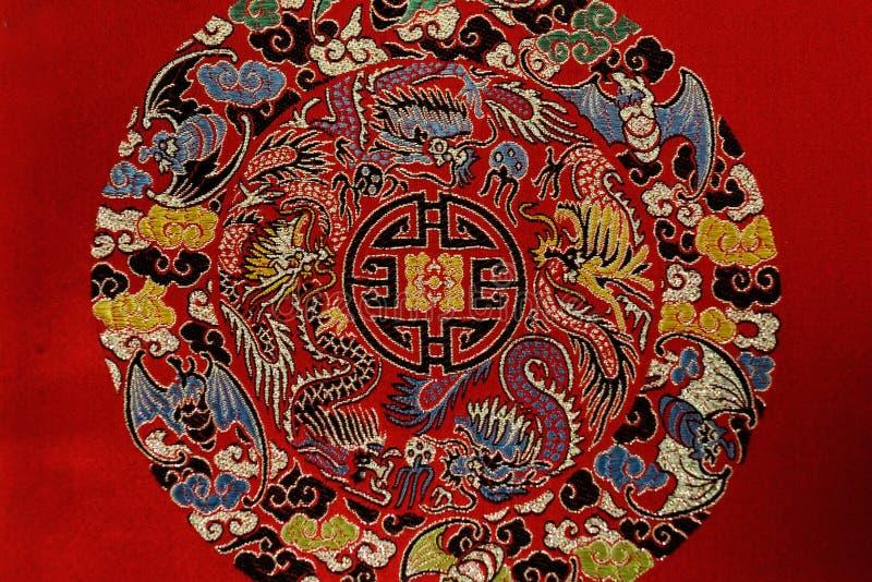 Detalhes de brocado de Shu, China fotografia de stock