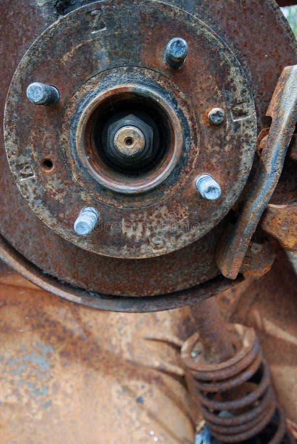 Detalhes de carro oxidado velho foto de stock royalty free