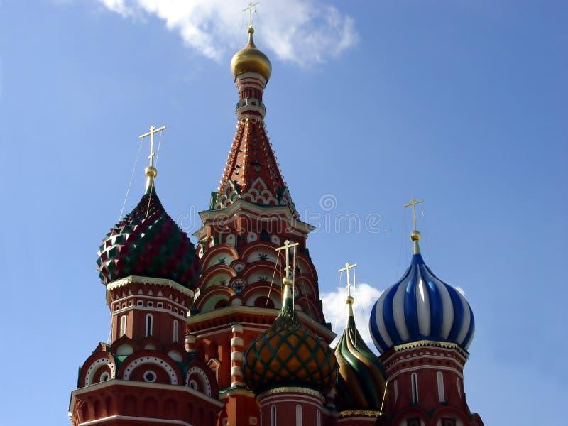 Detalhes de catedral da manjericão do St. imagens de stock
