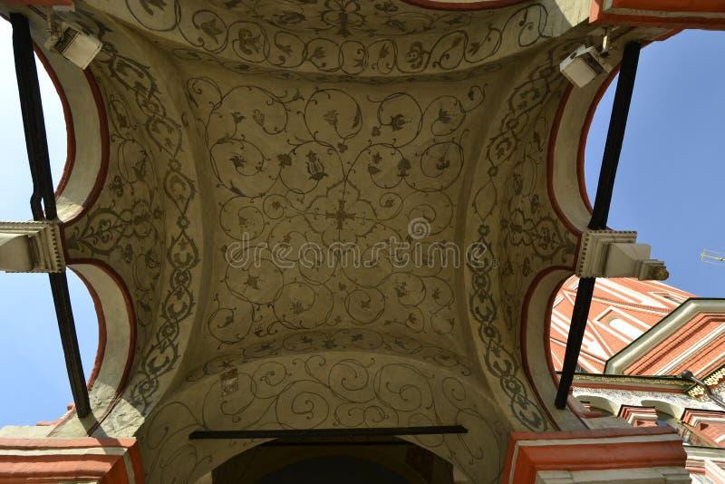Detalhes de catedral do ` s da manjericão do St no quadrado vermelho imagem de stock royalty free