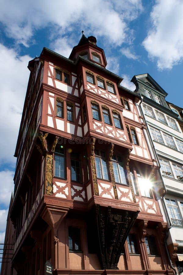 Detalhes de edifício alemão velho foto de stock royalty free