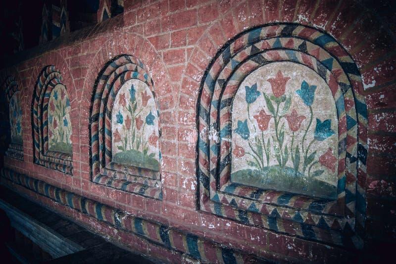 Detalhes de interrior da catedral da manjericão do St fotos de stock