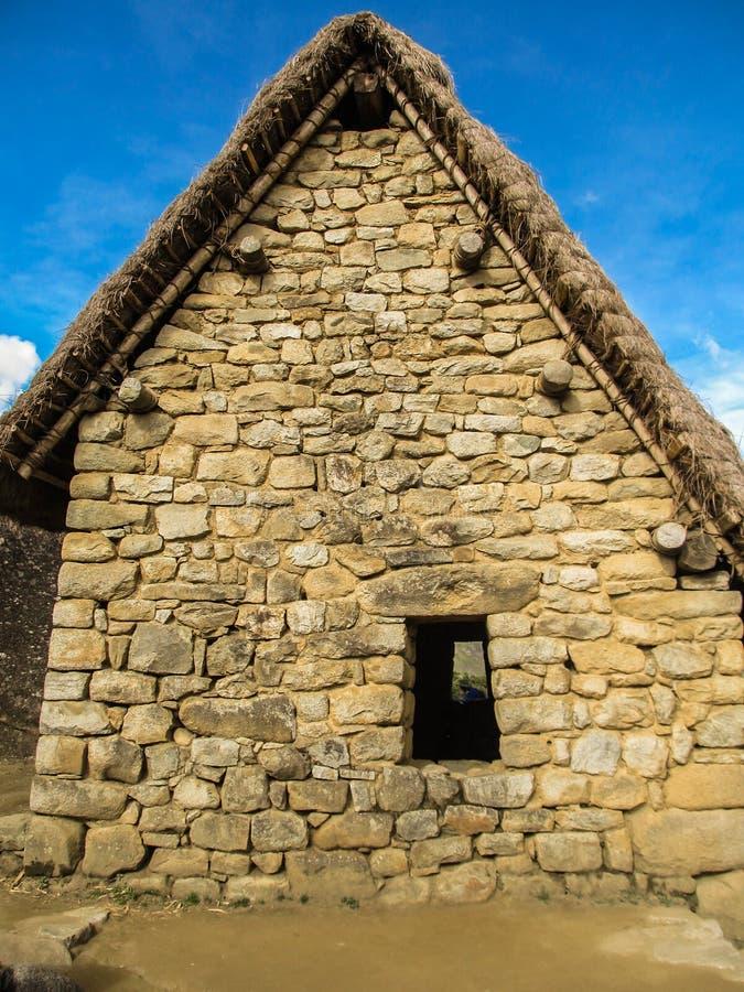 Detalhes de local arqueológico de Machu Picchu imagens de stock