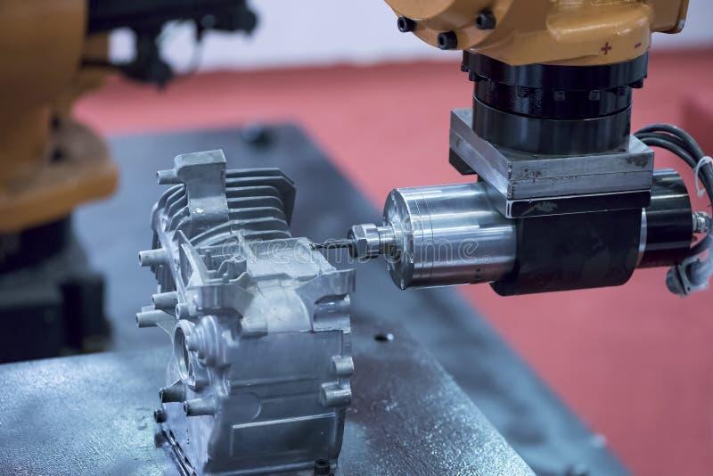 Detalhes de máquina do CNC fotos de stock