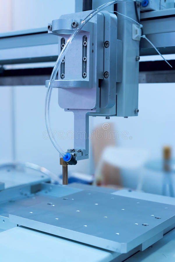Detalhes de máquina do CNC imagens de stock