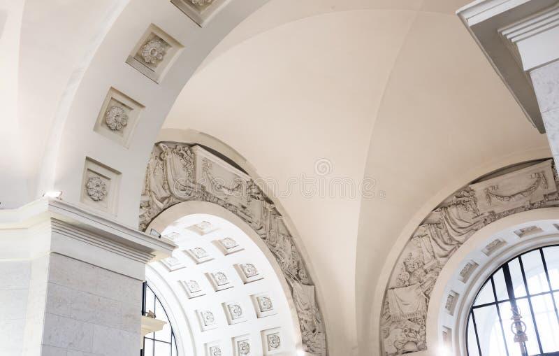 Detalhes de metro de Moscou imagem de stock royalty free