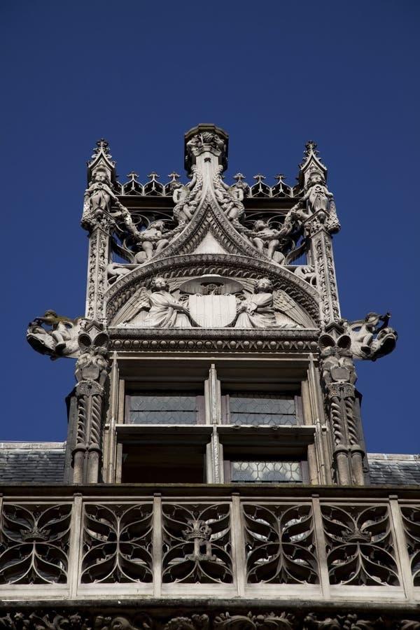 Detalhes de museu de Cluny em Paris fotos de stock